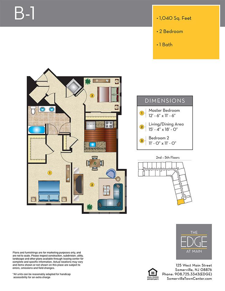 B-1 Floor Plan