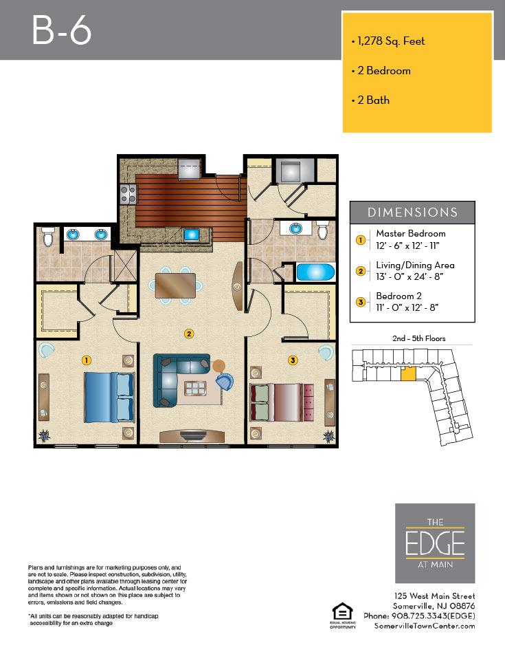 B-6 Floor Plan