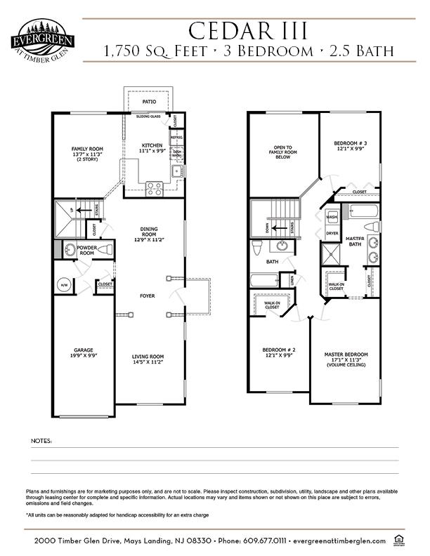 Cedar III Floor Plan