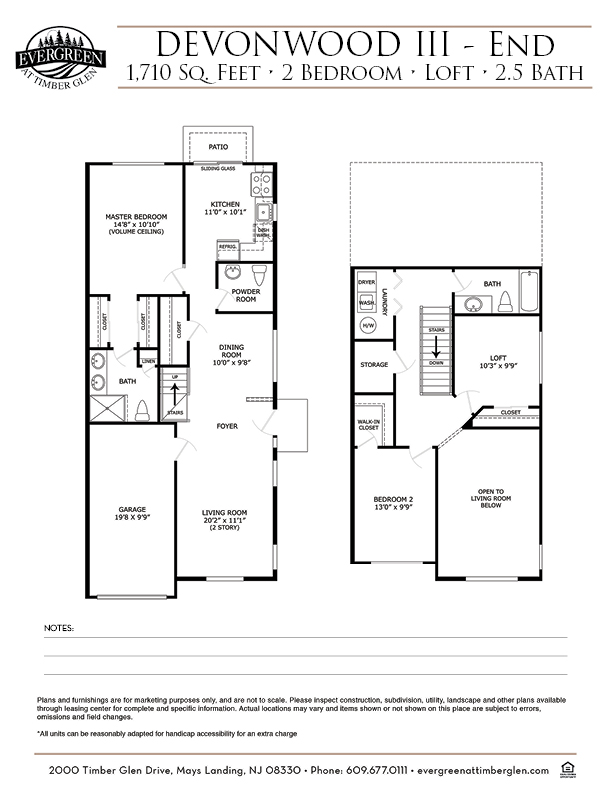 Devonwood III (End) Floor Plan