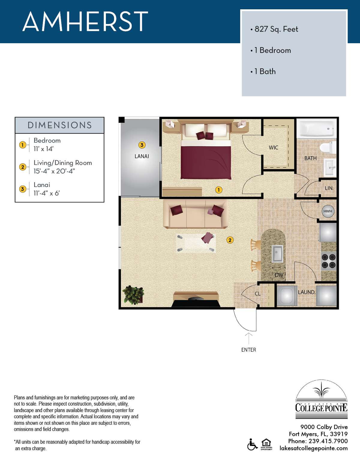 The Amherst Floor Plan