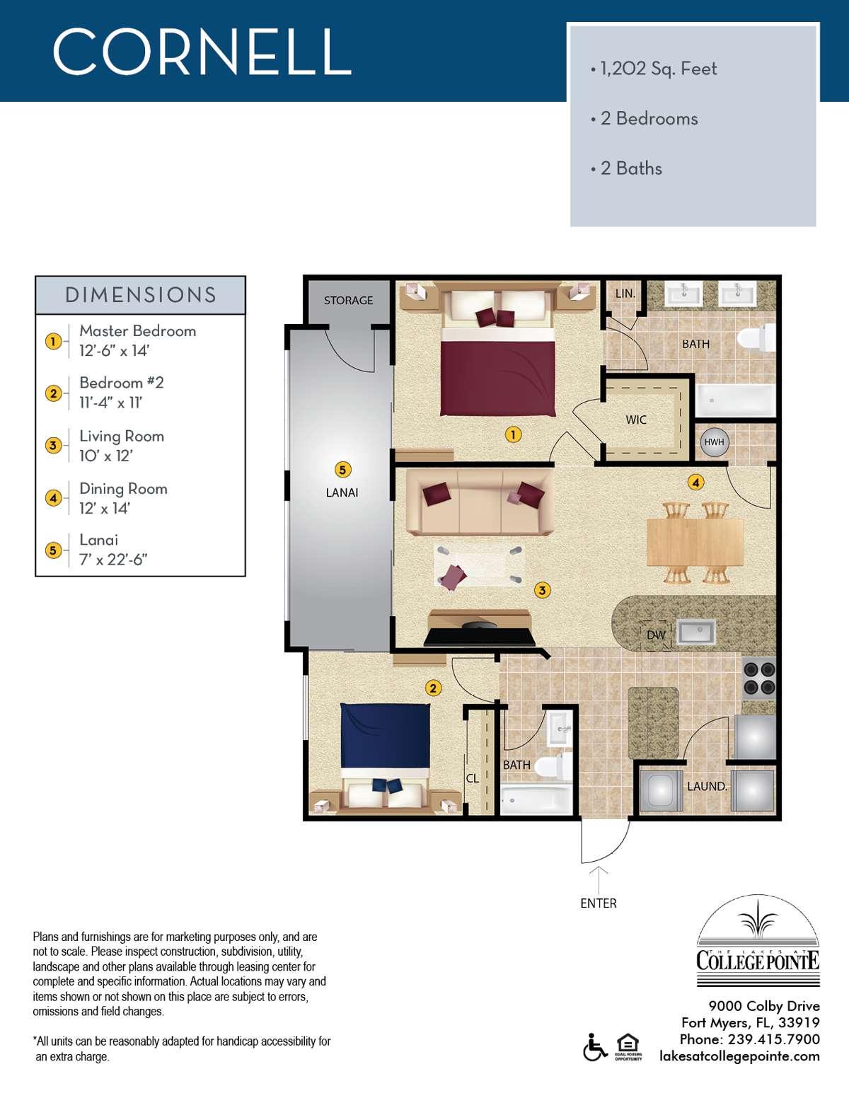 The Cornell Floor Plan
