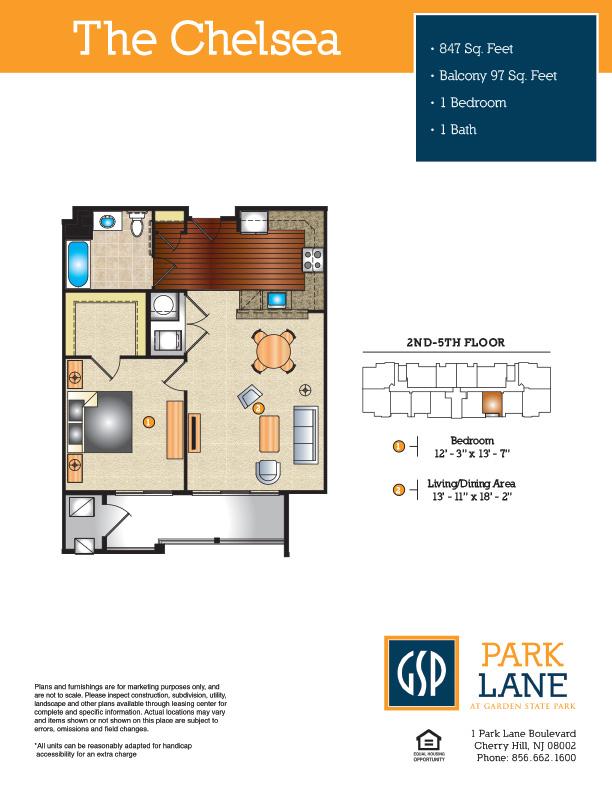The Chelsea Floor Plan