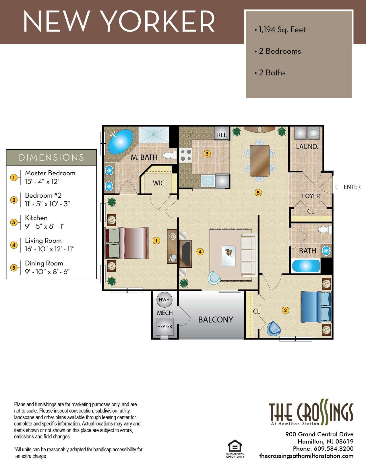 The New Yorker Floor Plan
