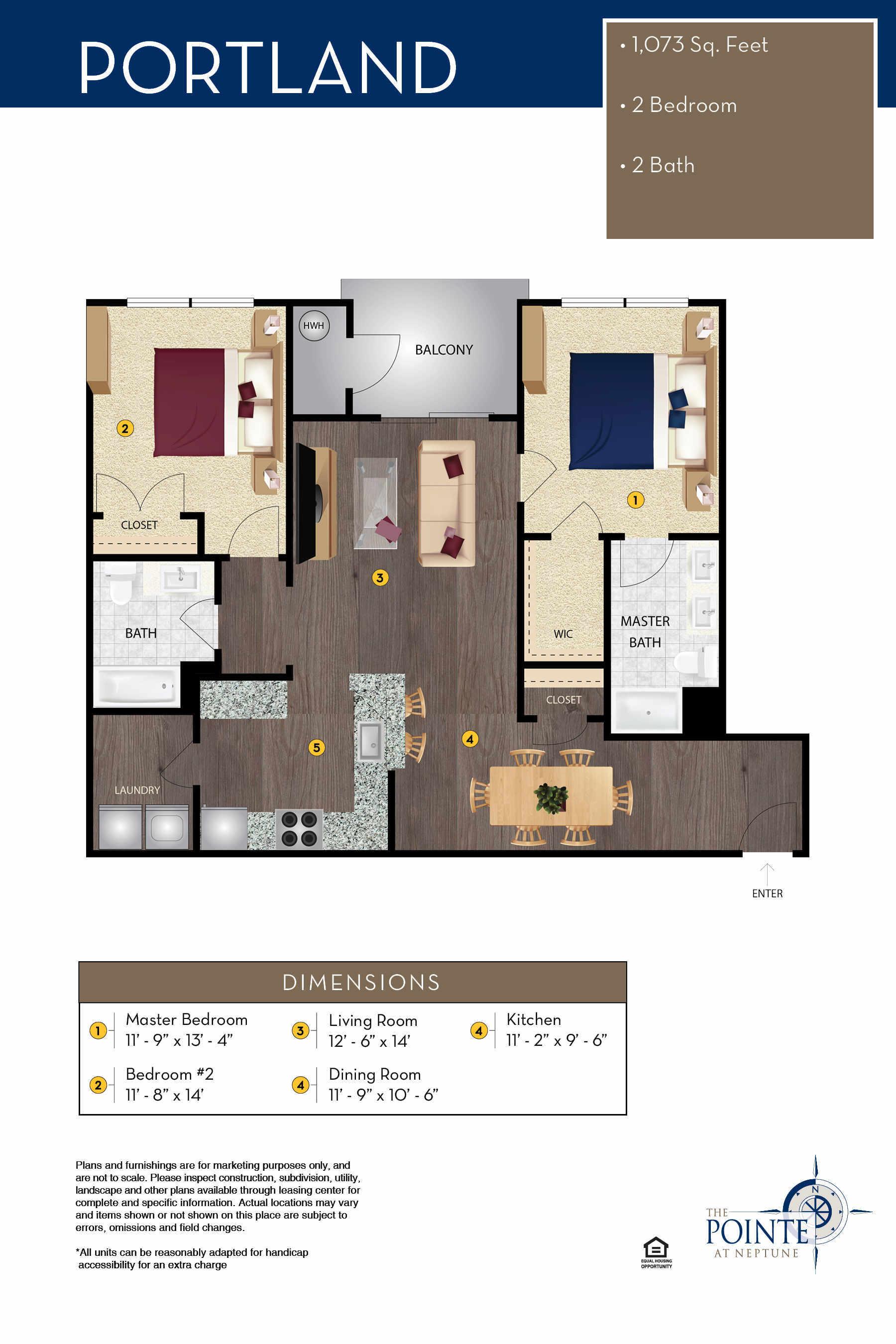 The Portland Floor Plan