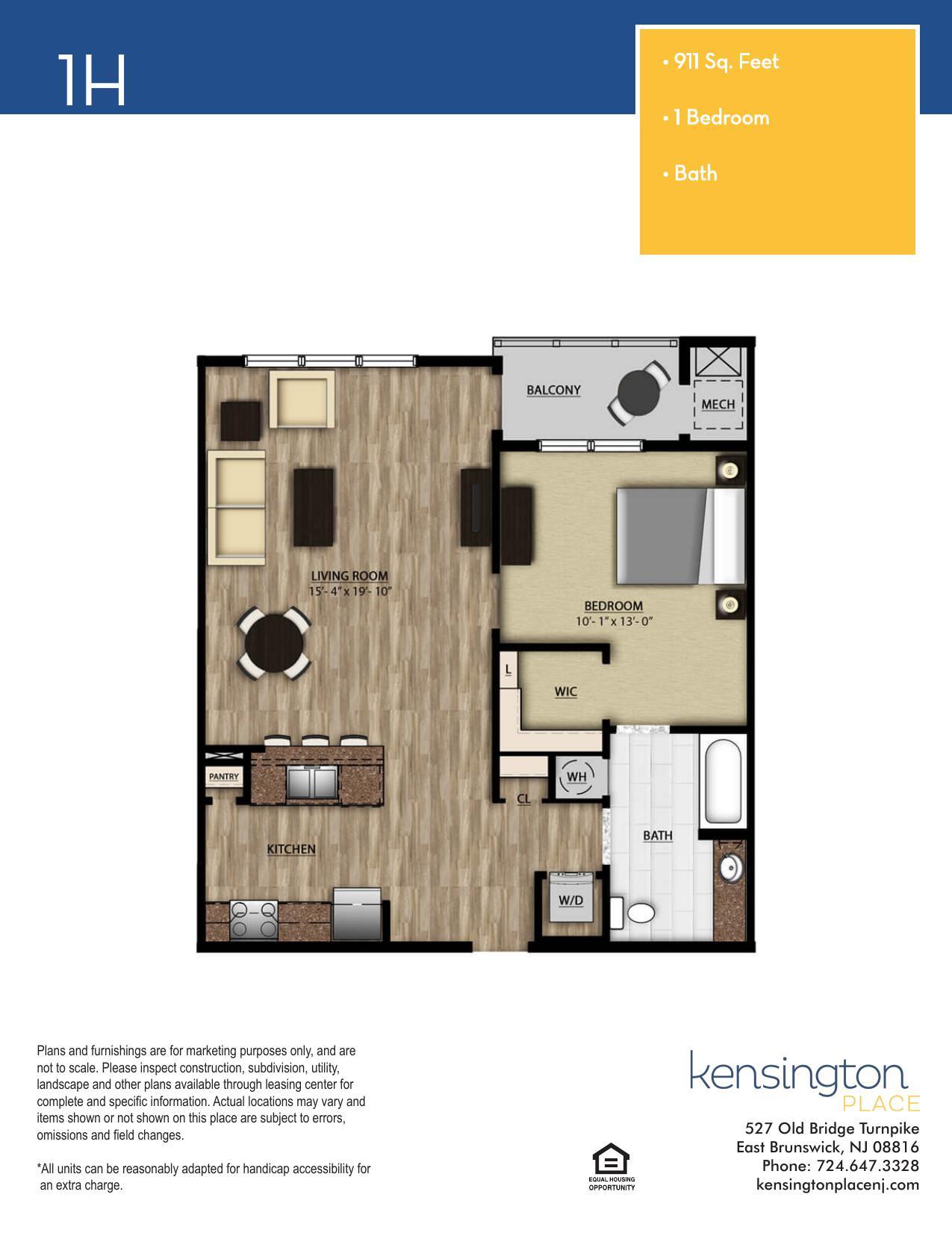 1H Floor Plan