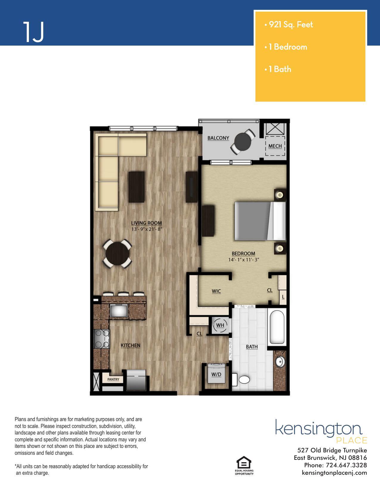 1J Floor Plan