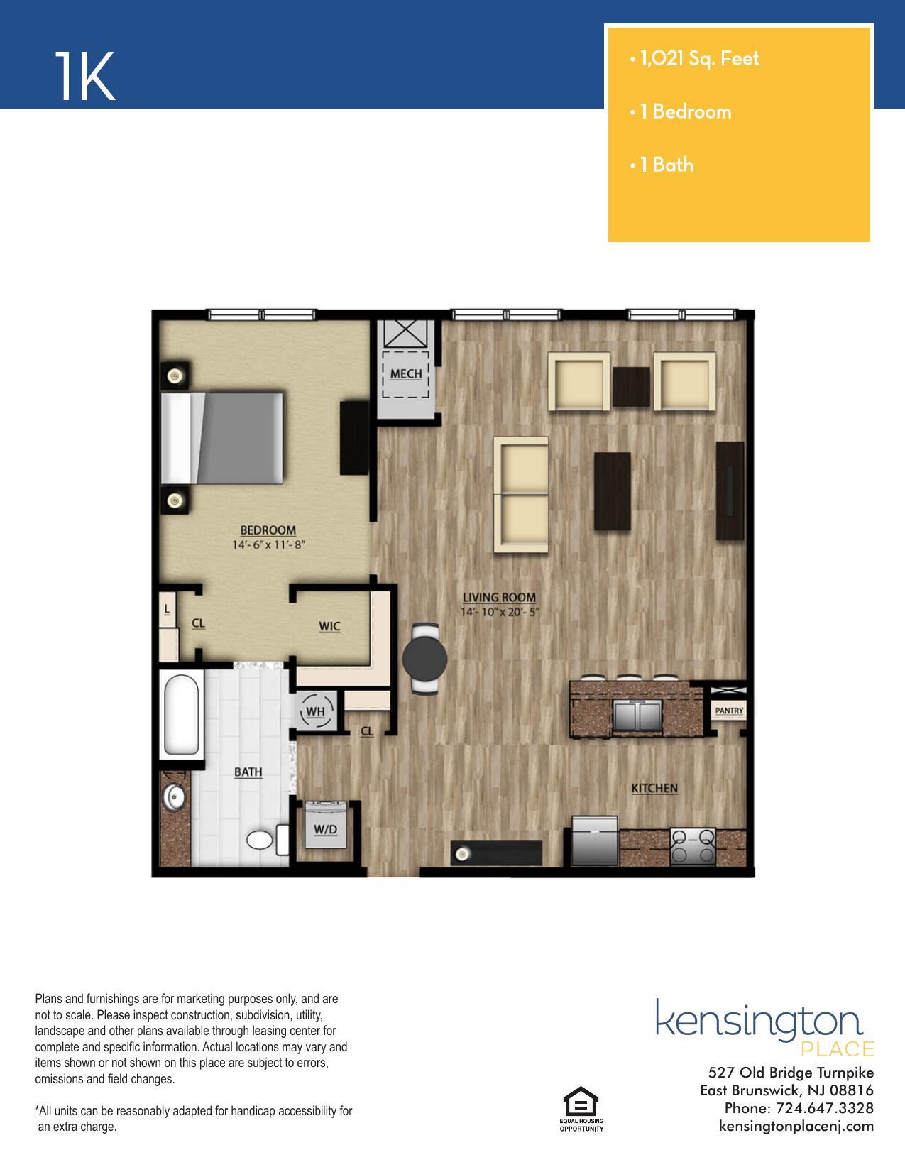 1K Floor Plan