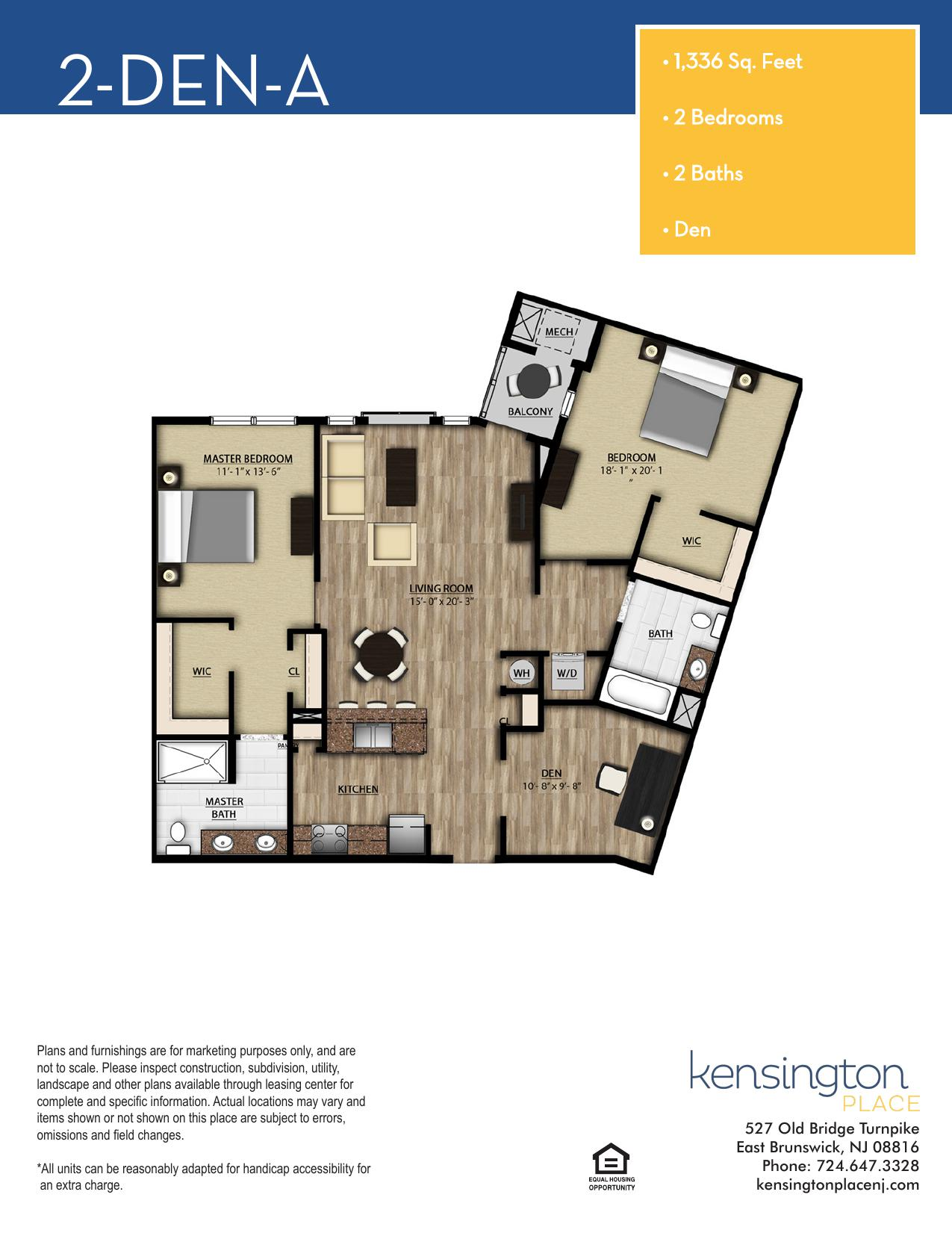 2 DEN A Floor Plan