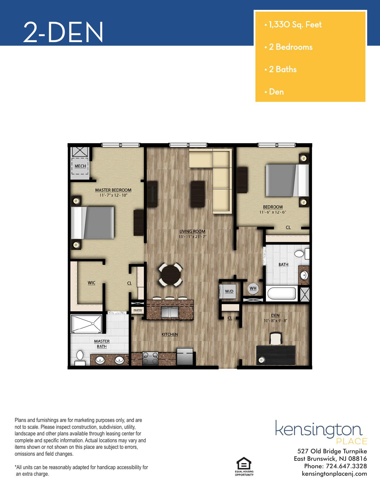 2 DEN Floor Plan