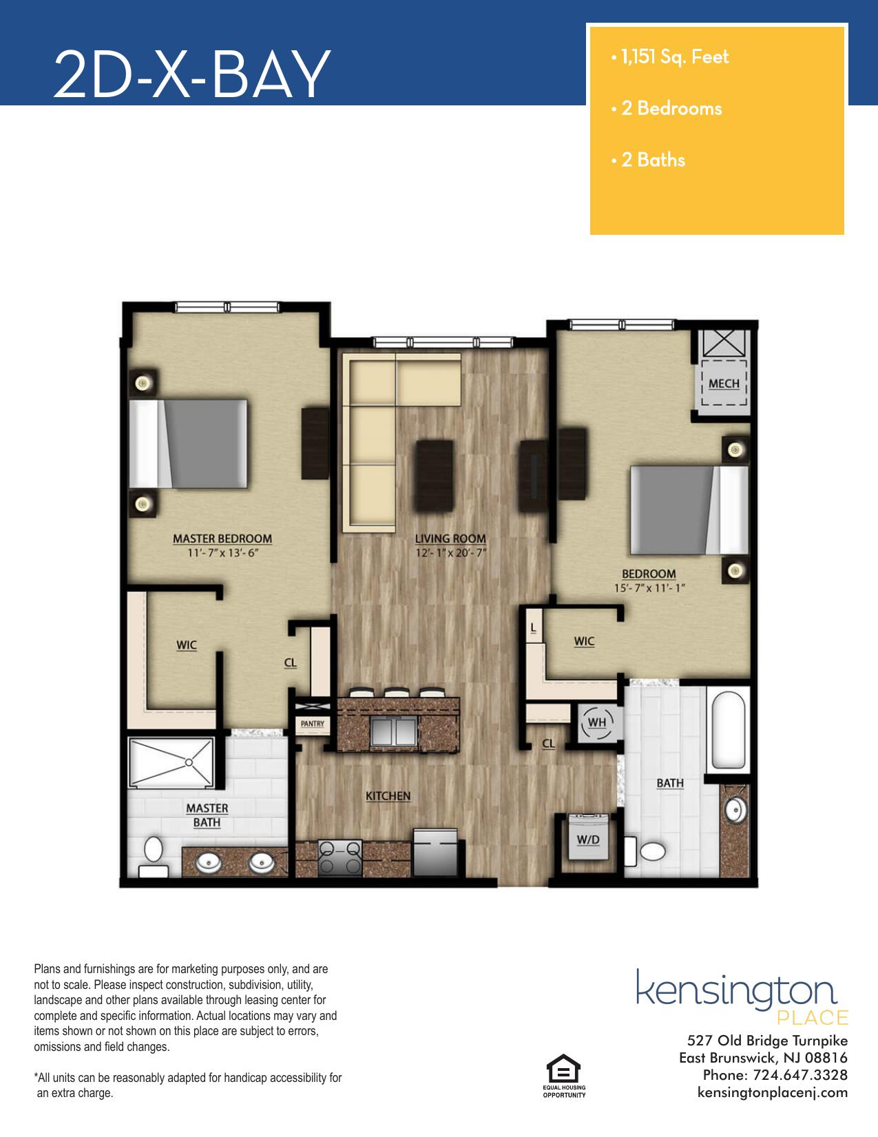 2DX BAY Floor Plan