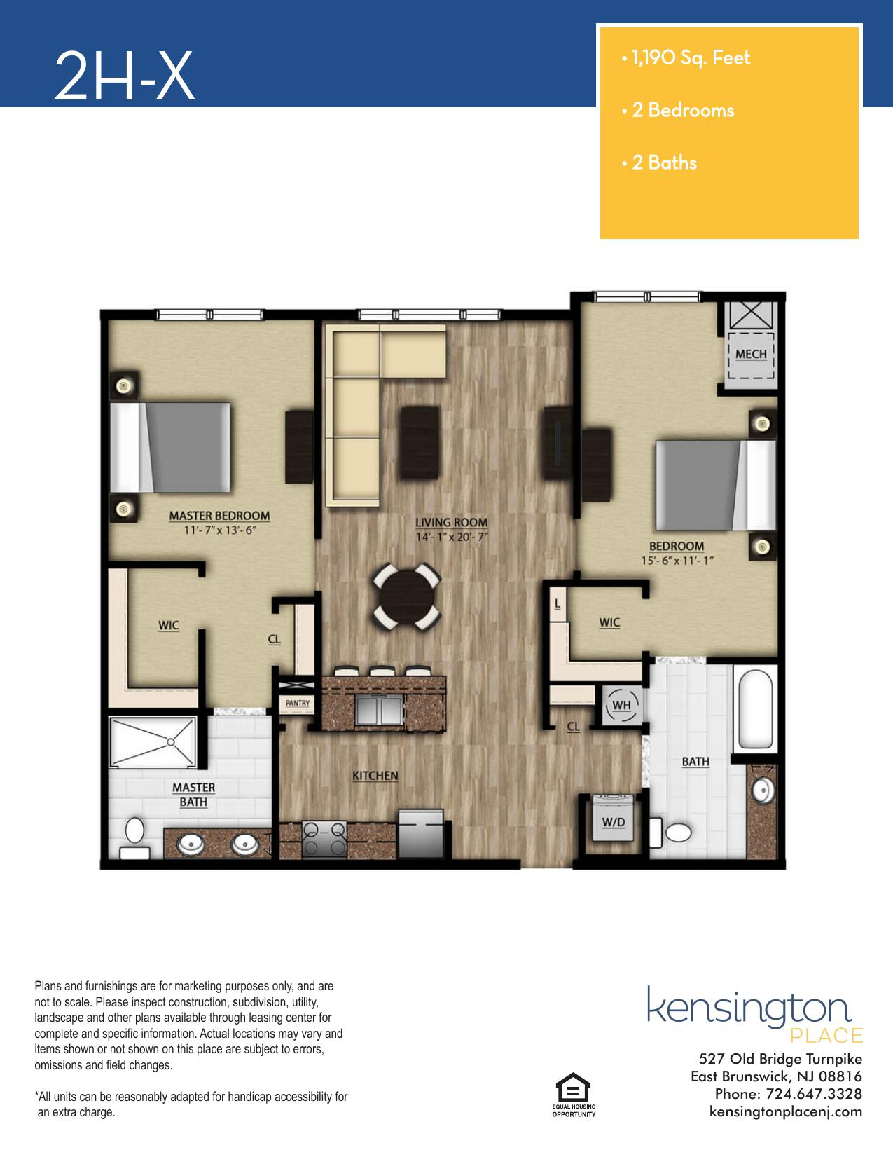 2HX Floor Plan
