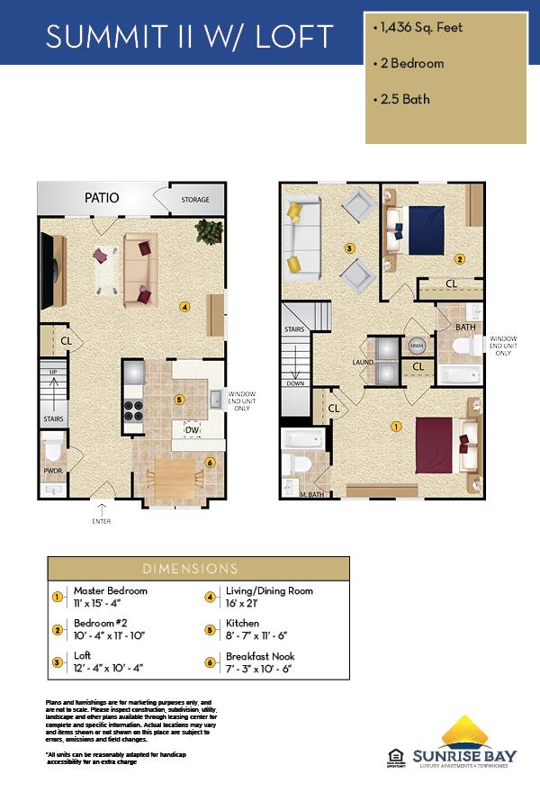 Summit II & Loft Floor Plan