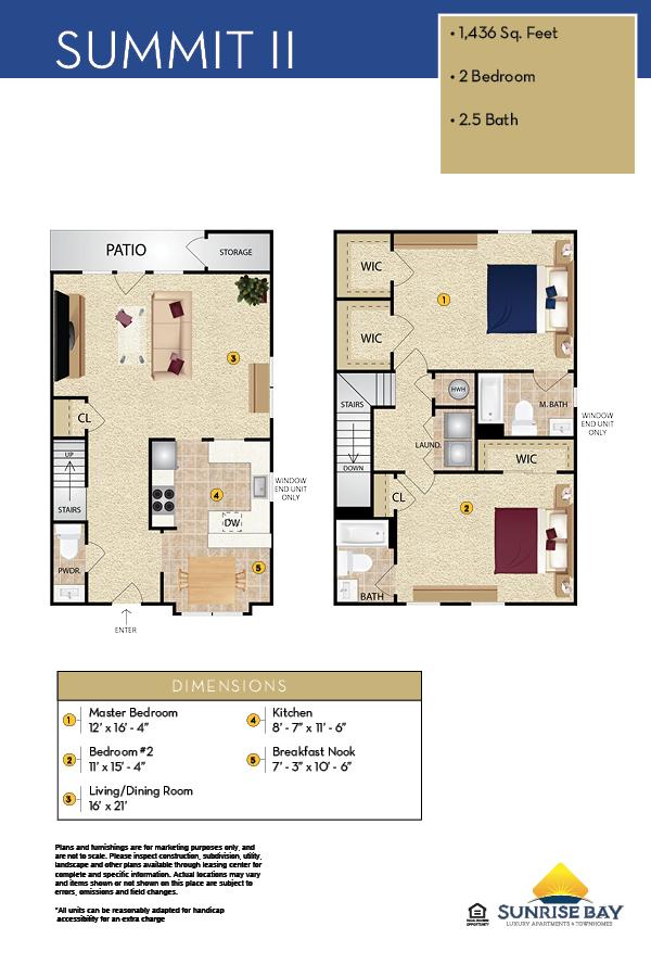 Summit II Floor Plan