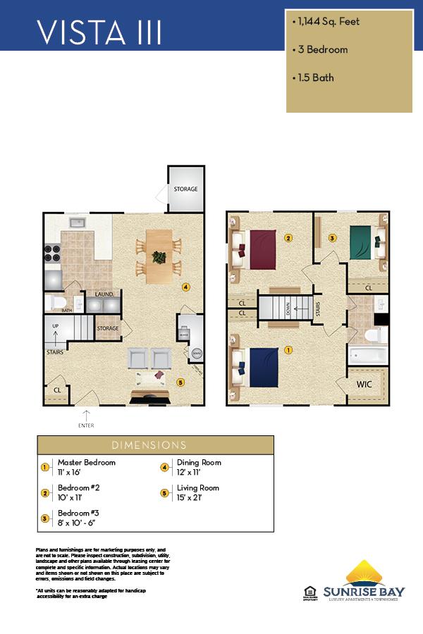 Vista III Floor Plan